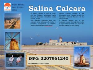 Salina Calcara di Trapani - Volantino informativo